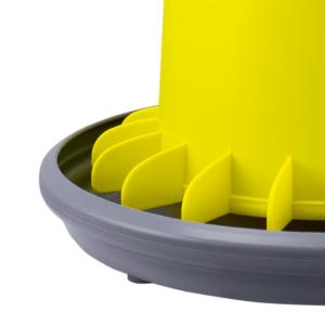 ARCUS GYRO 9L Trichter-Futterautomat mit Lamellen zur Verhinderung von Futterverschwendung und Gewindestange aus Kunststoff - Flügelsystem