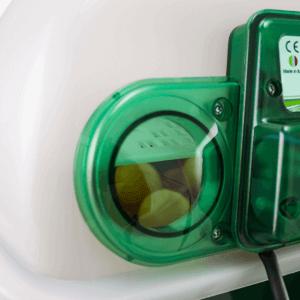 Incubadora digital ET 12 con unidad de volteo OVOMATIC - portillos de inspección