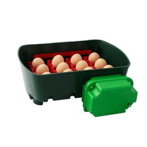 """Incubatrice digitale ET 12 con unità girauova """"Ovomatic"""" - vassoio porta uova"""