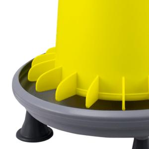 ARCUS GYRO 9L Trichter-Futterautomat mit Lamellen zur Verhinderung von Futterverschwendung, Gewindestange aus Kunststoff und Füßen - Flügelsystem