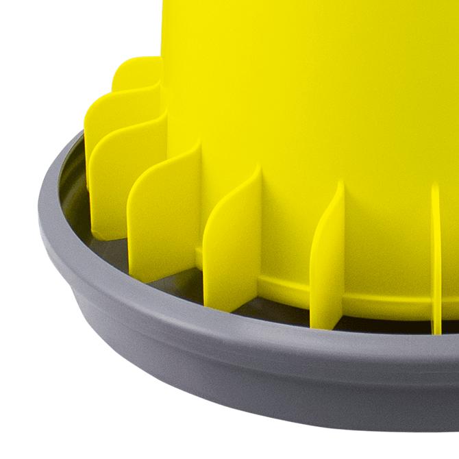 ARCUS GYRO Mangiatoia a tramoggia da 20L con alette antispreco e asta filettata in plastica - alette antispreco