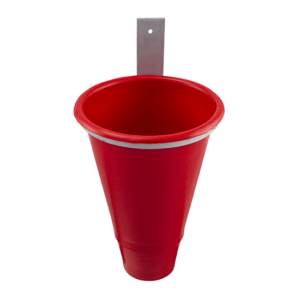 Funnel for slaughtering unit with metal support, item no. 213/A