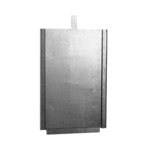 Porte-carte en tôle galvanisée, art. 170