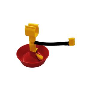 Godet premiers jours à accrocher au tube carré avec adaptateur pour pipette en plastique, art. 4060-1