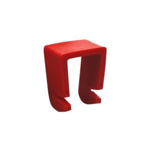 Crochet pour tuyau carré 22x22mm, art. 4316-01