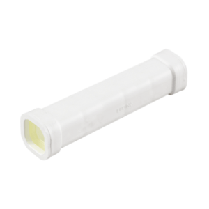 Conexión de 14cm con juntas para tubo cuadrado 22x22mm, art. 4348-04