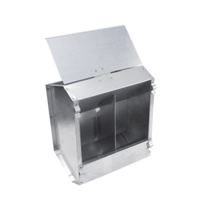 """Small"" 2-compartment hopper feeder with lid for rabbits, item no. 133/A"