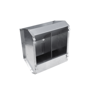 """Small"" 2-compartment hopper feeder for rabbits, item no. 133"