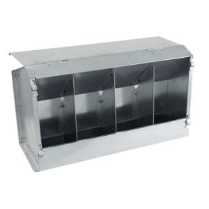 4-compartment hopper feeder with lid for rabbits, item no. 136/A