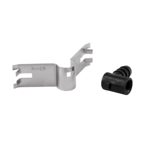 Stainless steel clip with nipple holder - disassembled