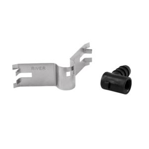 Plaque à clip avec support coudé pour pipette - déssosé