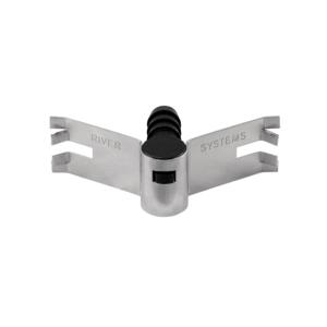 Plaque à clip avec support coudé pour pipette, art. 145/B/CLIP