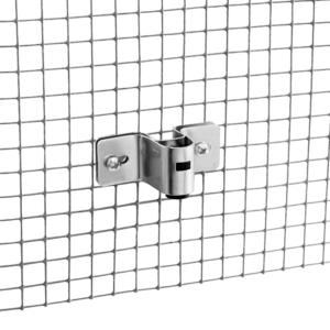 Plaque à visser avec support pour pipette et raccord en T - accroché