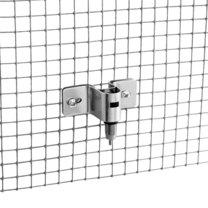 Screw bracket drinker with stainless steel nipple for rabbits - hanged