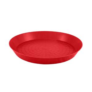 Futterplatte aus roten Kunststoff ø40cm für Eintagsküken, Art. Nr. 297-04