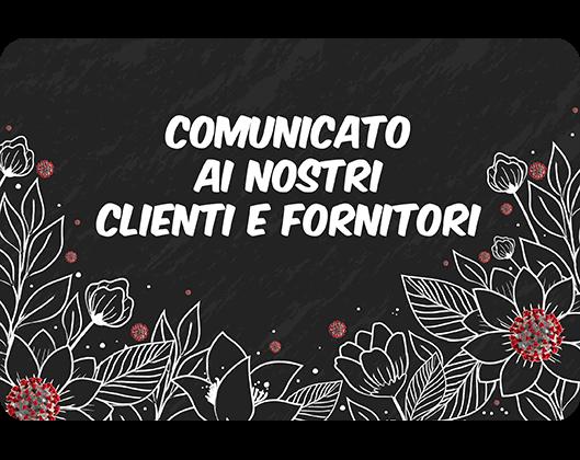 Comunicato clienti e fornitori