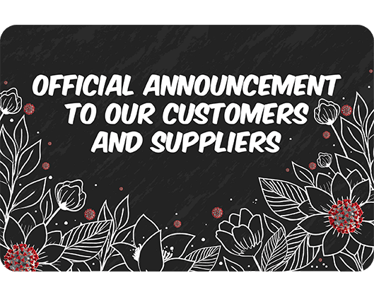 Announcement customers and suppliers