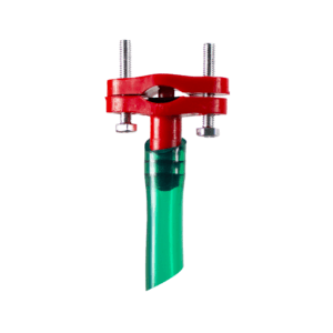 Hanging automatic bell drinker with valve for 12x17mm hose, complete with 3m of hose and saddle connector - Saddle connector for automatic bell drinker